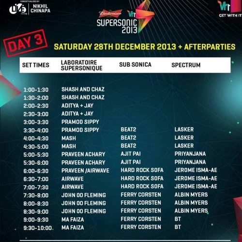 Shash & Chaz at Vh1 Supersonic 2013, Goa - Dec 28, DAY 3