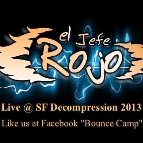 "El Jefe Rojo Live @ Burning Man Decompression San Francisco 2013 ""Bounce Camp"""