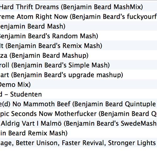 Benjamin Beard's MEGA Mashup Pack [15 HIGH QUALITY MASHUPS]