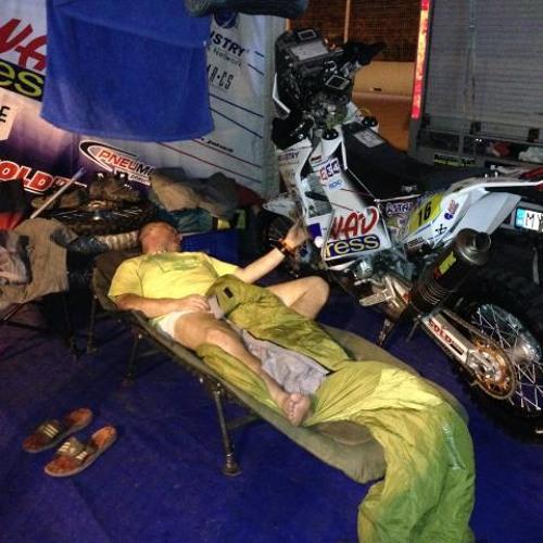Jaroslav Beran (mechanik Ivana Jakeša) po 1. etape Rely Dakar 2014
