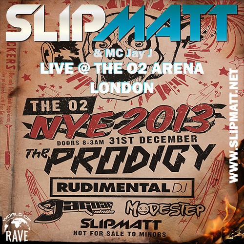 Slipmatt - Live @ O2 Arena London Supporting The Prodigy 31-12-2013