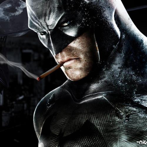 Batman Smokin A Blunt