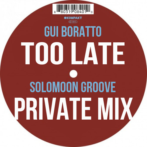 Gui Boratto - Too Late (Solomoon Groove Private Mix)