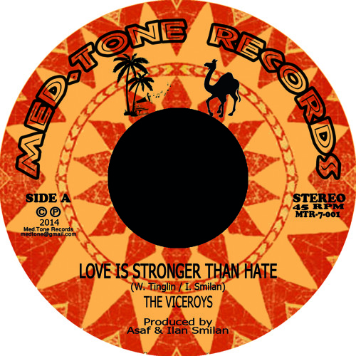 "Love Is Stronger - The Viceroys (JA) / Zvuloon Dub System - New 7""‏"