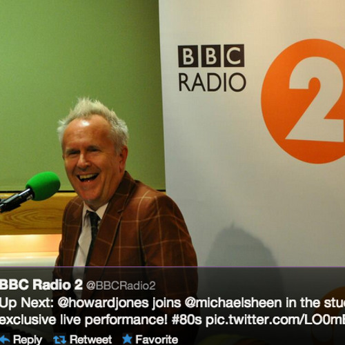 Howard Jones Hide & Seek LIVE BBC Radio 2 January 5th 2014