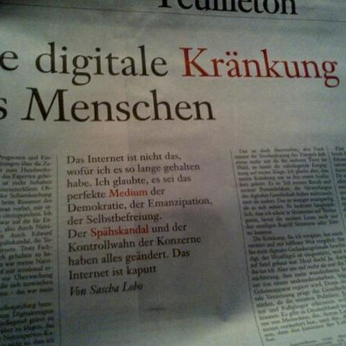 Jens liest Sascha: Die Digitale Kränkung des Menschen