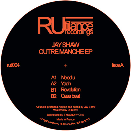 Jay Shaw - Outremanche EP - ruti004
