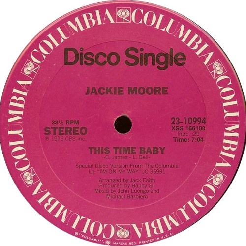 Jackie Moore - This Time Baby (Pied Piper M+M Mix) UNCUT ACETATE MIX