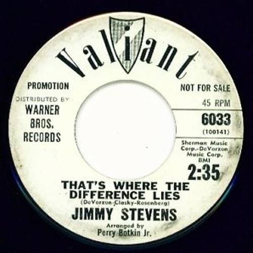 Jimmy Stevens (Safaris) - That's Where The Difference Lies