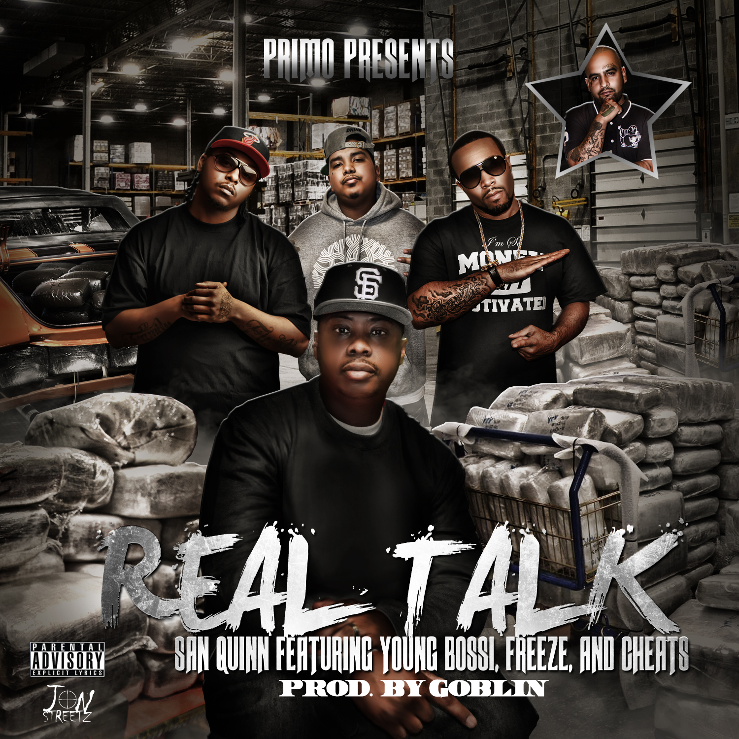 San Quinn ft. Young Bossi, Freeze & Cheats - Real Talk (Produced by Goblin) [THIZZLER.COM]