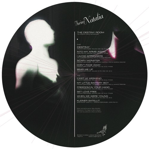 "TWINS NATALIA The Destiny Room - The Original Demo Recordings (ANNA 048P) 12""LP Picture Disc"
