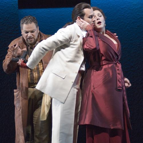 Enter Don Giovanni, Pursued by Donna Anna