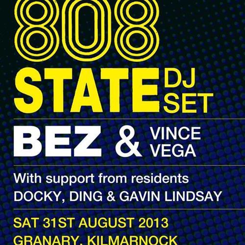 Gavin Lindsay_live@Bez's Acid House Ft. 808 State, Kilmarnock 31.08.13