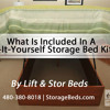 What Is Included In A Lift and Stor Do-It-Yourself Storage Bed Kit