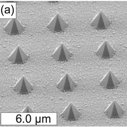 Controlled Growth of Hexagonal GaN Pyramids by Hot-Wall MOCVD