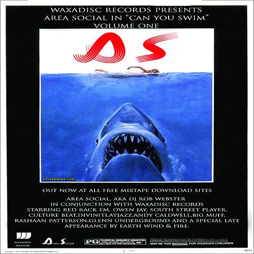 Area Social Aka DJ Rob Webster. Can You Swim Volume 1 Feb 2014 Waxadisc Records