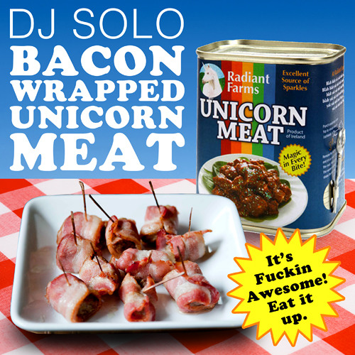 Bacon Wrapped Unicorn Meat