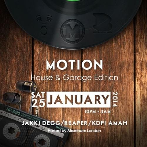 Kofi Amah Live @ Motion: The House & Garage Edition w/ Alexander London