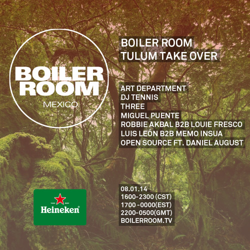 Art Department Boiler Room Mexico / Tulum Take-over