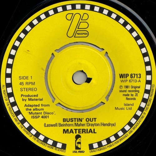 Material - Bustin Out (Richard Rossa´s Discoholic Edit) // Free DL