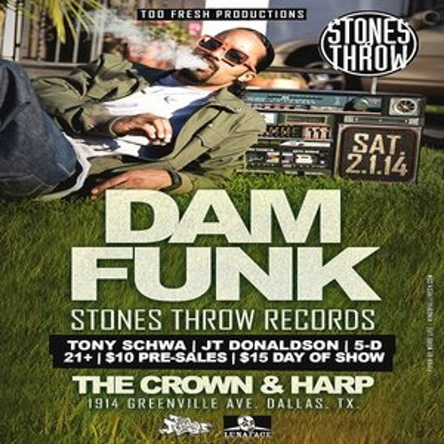 Dâm-Funk Live in Dallas,Tx @ The Crown and Harp (2.1.14)