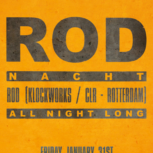 ROD @ RODnacht, Trouw Amsterdam (31-1-2014) PART 2 OF 2