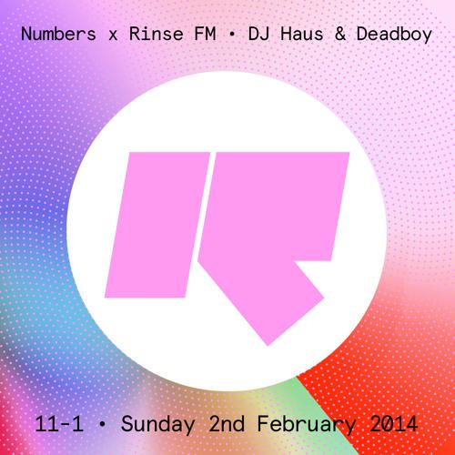 DJ Haus Numbers X Rinse FM Special