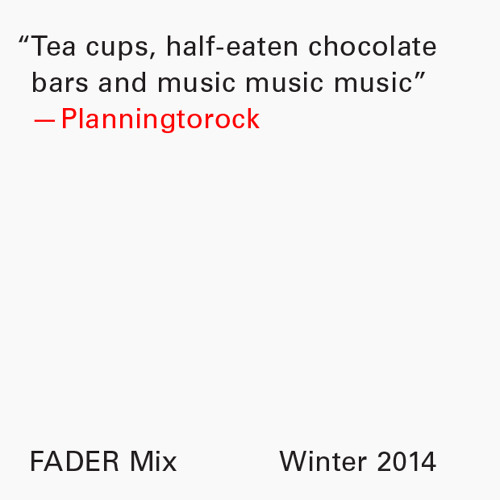 FADER Mix: Planningtorock