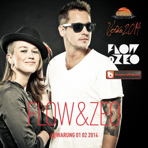 Flow & Zeo mixed set live @ Warung Beach Club (01/02/2014) After DJ Tennis