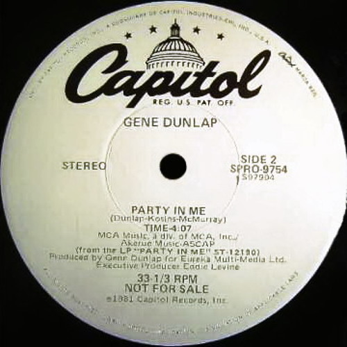 Gene Dunlap - Party In Me (Dj ''S'' Bootleg Extended Dance Re-Mix)