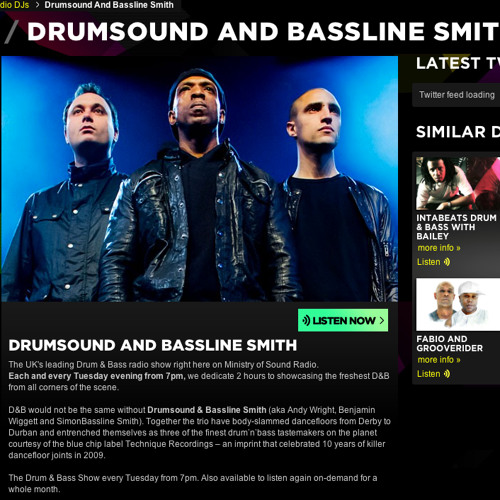 Drumsound & Bassline Smith - #WallOfSound Show on  Ministry Of Sound Radio - Show ( Feb 2014)