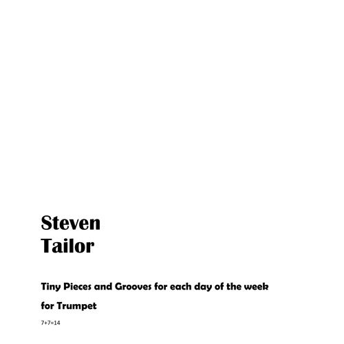 Tailor-Sheet Music-2nd Row of Tiny Pieces (for trumpet)