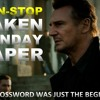 Liam Neeson In - Non Stop Taken Sunday Paper