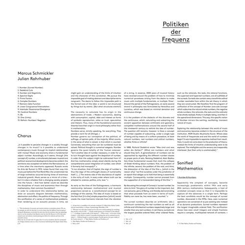"""Marcus Schmickler & Julian Rohrhuber  """"(Surreal) Number"""" (eMEGO 191)"""