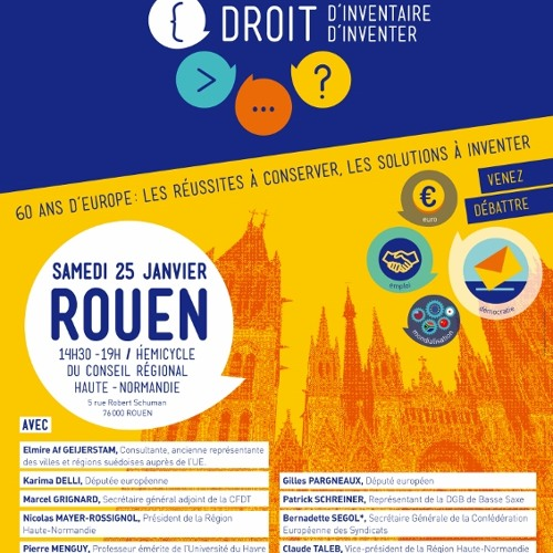 """""""Droit d'inventaire - Droit d'inventer"""", Rouen 25.01.2014"""