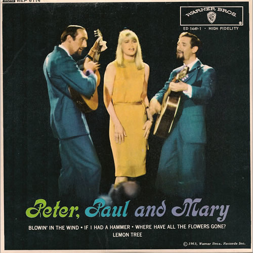peter paul and mary blowin in the wind essay Blowin' in the wind blowin' in the wind was originally written by bob dylan in 1962 and released in 1963 it became a hit when it was performed by peter, paul, and mary.