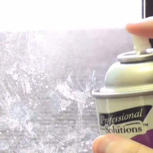 Uli cleans the windows