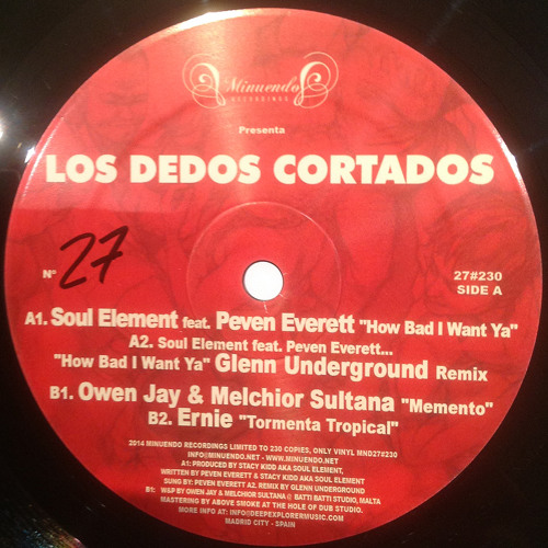 Soul Element, Peven Everett, GU Remix... Los Dedos Cortados - Mnd27#230 - PRE ORDER NOW