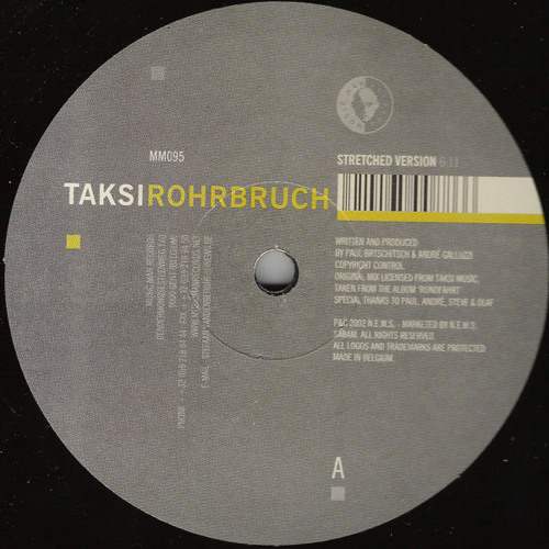 Taksi (André Galluzzi & Paul Brtschitsch) - Rohrbruch - (Music Man Records) 2002