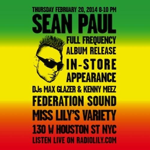 Sean Paul Live on Radio Lily with Max Glazer & Kenny Meez 02.20.14