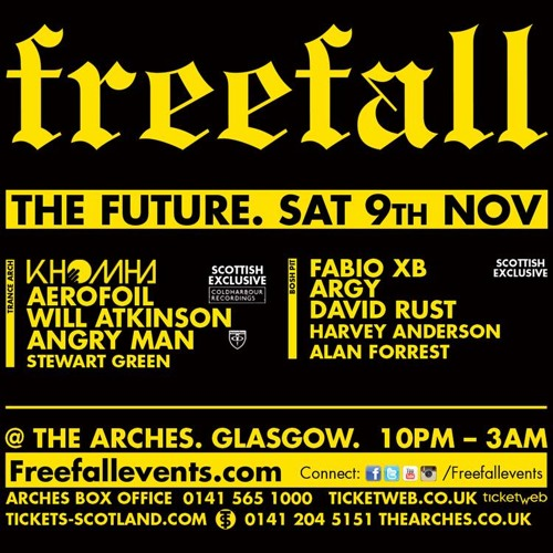 Angry Man Live @ Freefall - The Arches - Glasgow 09-11-13