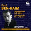 Paul Ben-Haim: String Quartet No. 1, Op. 21: II. Molto vivace