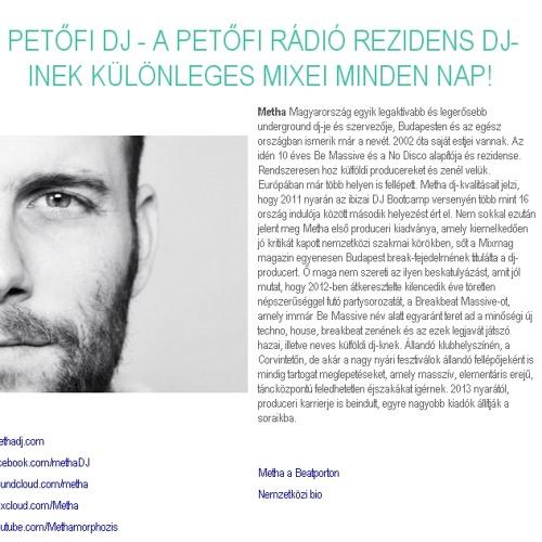 METHA - PETŐFI RÁDIÓ DJ MIX 2014.02.25.