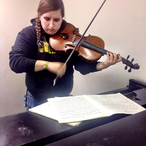 Master of Music candidate Heather Faust- Principal Viola for the Mannes Orchestra
