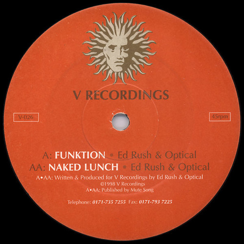 Ed Rush & Optical - 'Funktion' (V Recordings) 1998