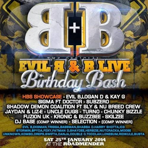 SELECTION & MC RIDIKULE - EVIL B BIRTHDAY BASH 2014 RECORDED LIVE SATURDAY 25TH JANUARY- ROADMENDER