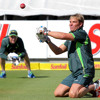 Shane Warne on day one at Newlands