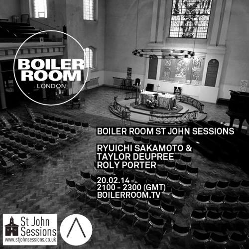Ryuichi Sakamoto & Taylor Deupree live at the Boiler Room x St John's Sessions