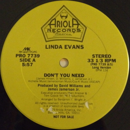 Linda Evans - Don't You Need(1979) Aka Re-work