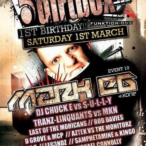 DJ Chuck-E vs S-U-L-L-Y feat' MC Shocker LIVE @ Dirtbox 1st Birthday Bash, Swansea, 1/3/14